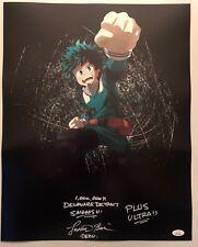 Justin Briner Signed Autographed 16x20 Photo DEKU My Hero Academia JSA COA