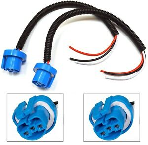 Extension Wire Pigtail Female P 9004 HB1 Head Light Harness Bulb Wiring Socket