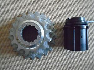 CAMPAGNOLO VINTAGE ALUMINIUM & STEEL 7-SPEED CASSETTE & ROTOR, 13-21t, VGC/NEW