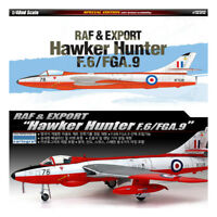 ACADEMY #12312 1/48 Plastic Model Kit RAF & EXPORT Hawker Hunter F.6/FGA.9