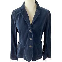 J. Crew Parke Blazer in Velvet Navy Blue Velour Jacket Professional Size Large