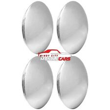 (4) Piece Chrome Baby Moon 7 Rally Wheel Cap Set
