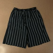 Perry Ellis Mens Size Medium Black Pajama Shorts Sleepwear Elastic Waist