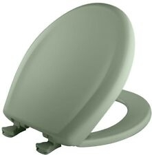 Toilet Seat Round Plastic Closed Front in Aspen Green with WhisperClose Hinge