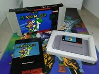 Super Mario World Super Nintendo SNES Complete CIB Cart, Manual, Tray Custom Box