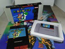 Super Mario World Super Nintendo SNES Complete CIB Cart, Manual, Tray NEW Box