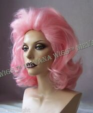 Light Pink Lots of Volume Medium Length Drag/Mens Wig