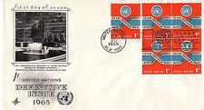 UNITED NATIONS - 146 U/A  FDC - ARTCRAFT CACHET -  1965