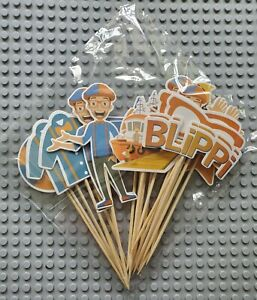 Blippi Cupcake Toppers ~ 24 Pcs Birthday Party Decorations