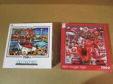 Lot of 2 Ceaco 550-750 Pc. Puzzles: Red-Rouge-Rojo & Clunkers