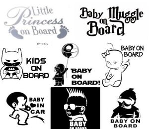 CLEARANCE!! Baby On Board Sticker Twins on Board Cute Car Decal Vinyl For Bumper