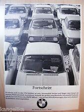 BMW -- progrès -- BMW 1600 -- usa --- publicité de 1967
