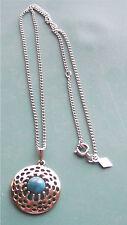 """AZTEC"" Turquoise Pendant Necklace - Sarah Coventry Jewelry - Sara Cov - Vtg"