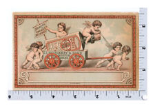 Hauthaway and Sons Boot and Shoe Polish   Victorian Trade Card   Cherubs Angels