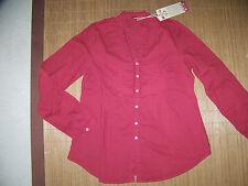 Damenblusen,-Tops & -Shirts mit Langarm-Ärmelart ohne Kragen und Baumwolle für Business