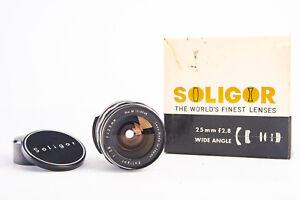 Soligor 25mm f/2.8 Wide Angle Prime Lens in Box for T2 Mount Near Mint V13