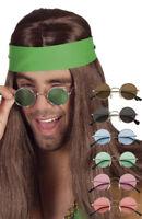 Lunettes De Soleil Rondes Hippie Accessoires Disco Adulte Déguisement Années 60