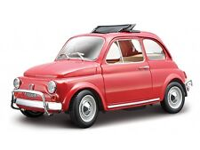 FIAT 500 1965 1 24 Car Model Miniature Models Cars Metal 4 Colors to Choose Red