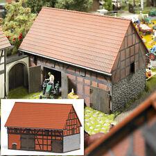 BUSCH 1506 Bauernhof: Scheune mit kleinem Stall H0 #NEU in OVP#