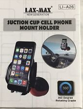 LAX-MAX Suction Cup Cellhone Holder 360 degree swivel Blue