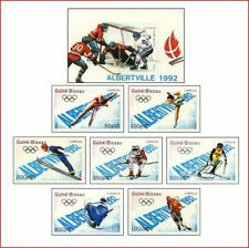 GUB8907 Albertville Winter Olympics 7 stamps and block