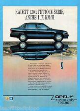 QUATTROR988-PUBBLICITA'/ADVERTISING-1988- OPEL KADETT 1300