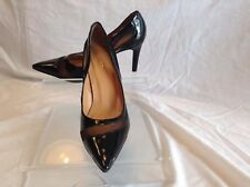 Prego ladies black patent leather pumps in size 35