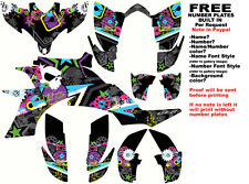 DFR SUBCULTURE GRAPHIC KIT ELECTRIC COLORS FULL WRAP YAMAHA YFZ 450 YFZ450