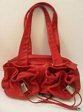 Domo Red Genuine Leather Handbag