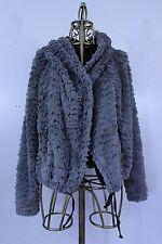 BB Dakota Faux Fur Gray Jacket Coat Size Medium