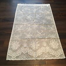 """Vintage antique white lace floral curtain panel 62"""" inch x 39"""" inch"""