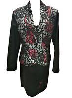 Abito donna, Tubino, completo, giacca, cerimonia, vestito, elegante, 52, fiori