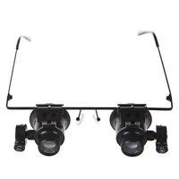Schwarze 20X Reparatur Brille-Lupe mit LED-Licht GY
