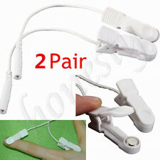2 Pairs Electrode Finger Clips Pads for Digital Tens Massager Machine Reusable