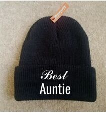 Printed Beanie BEST AUNTIE Hat Funny Fashion Cool Cap Knit Caps New Gift