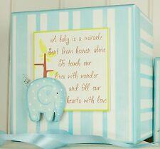 Baby Elephant Keepsake Box - Baby Boy Memory Box - Gifts for Baby Boy
