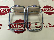 DATSUN 1200 Ute Rear Tail Lamp Chrome Rims Genuine (For NISSAN B120 Sunny Truck)