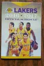 Los Angeles Lakers 2016-17 NBA pocket schedule