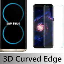 Samsung Galaxy S8 Case Friendly 3D Clear Tempered Glass Screen Protector.