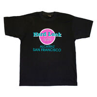 Hard Luck Cafe Alcatraz San Francisco Tshirt   Vintage 90s Prison Jail Parody