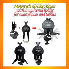 C-shape C Clamp Mount Motorcycle Mount+ALL IN ONE Holder for Smartphones+Tablets