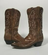 Lucchese 8D Brown Pointed Toe Western Cowboy Boots