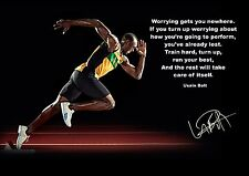 USAIN BOLT MOTIVATIONAL A4 poster 260gsm