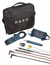 Electrician's Kit w/ Reeds Voltage Detector & Continuity Tester, AC Clamp Meter