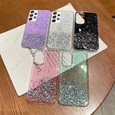 Hülle für Samsung Galaxy S21 Ultra S20 A72 A52 A32 Glitter Star Clear Softcover