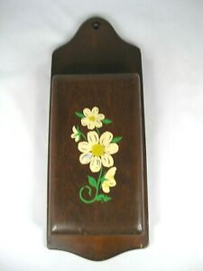 Vintage Wall Mounted Hand Painted Wooden Knife Holder for 4 Knives