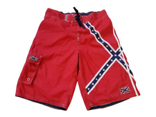 Confederate Dixie Swim Trunks Mens 2XL Red Blue Southern CSA Rebel Lee Shorts  i