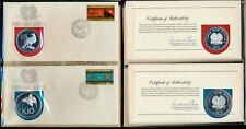 [99717] Papua New Guinea 1975 Set of 8 Proof coins in FDC's