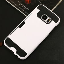 Slim Card Pocket Shock Proof Hybrid Wallet Case Cover For Samsung Galaxy Phones