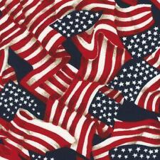Patriotic American Americana Red White Flag Star Stripe Quilt Fabric Valor